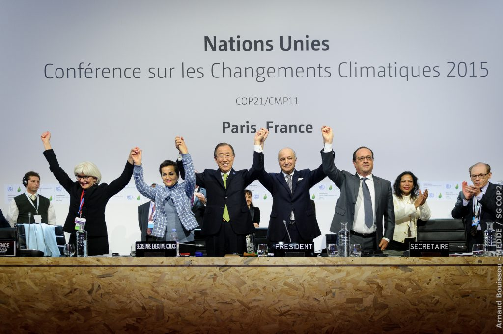 COP21 session for the adoption of the Paris Agreement