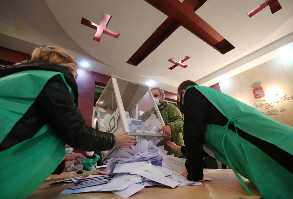 Saakashvili arrest overshadows Georgian ruling party's election win